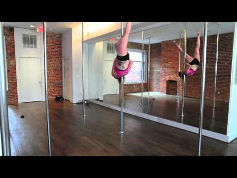 Pole Dance Move- Shoulder Mount into Brass Bridge