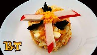 Крабовый салат. Самый быстрый, самый простой и самый вкусный салат с крабовыми палочками