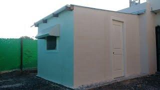 Como construir un cuarto con tarimas y material reciclado