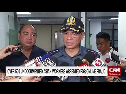 Over 500 undocumented Asian workers arrested for online fraud
