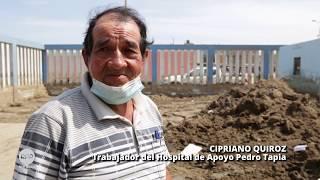 La limpieza continúa en el Hospital de Huarmey, tres meses después de la inundación