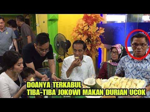 Pemilik Durian Ucok didatangi Presiden Jokowi Makan Durian