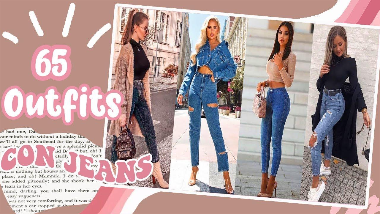 Jeans Outfits 2020 Moda Otono Invierno 2020 2021 65 Combinaciones Con Pantalones De Mezclilla Youtube