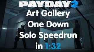 PAYDAY 2 - Art Gallery Solo Speedrun OD - 1:32