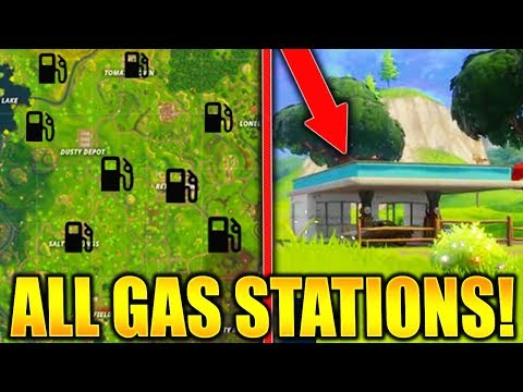 "FORTNITE ALL GAS STATION LOCATIONS! ""VISIT DIFFERENT GAS STATIONS IN A SINGLE MATCH"" LOCATION GUIDE!"