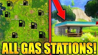 FORTNITE ALL GAS STATION LOCATIONS!