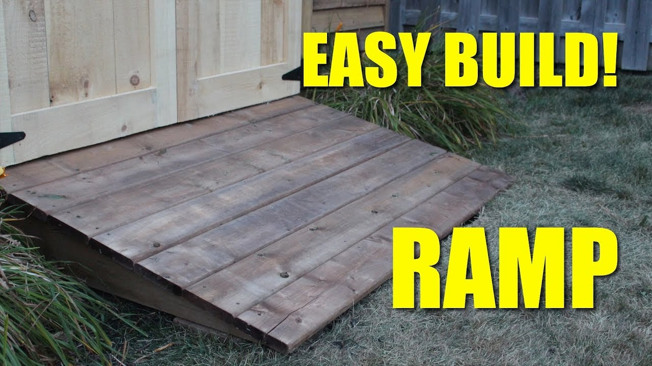 Ramp For My Shed! - YouTube