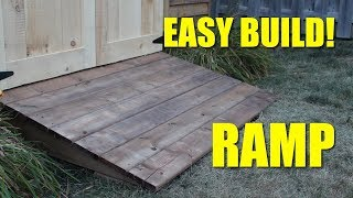 Ramp For My Shed Youtube
