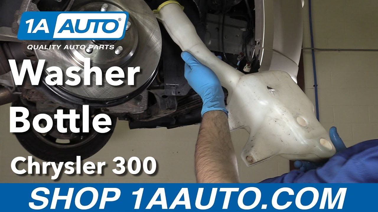 how to replace install washer fluid bottle 06 chrysler 300 [ 1280 x 720 Pixel ]