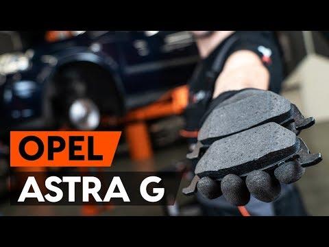Как заменить передние тормозные колодки на OPEL ASTRA-G CC 1 (F48_,F08_) [ВИДЕОУРОК AUTODOC]