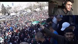 ردة فعلي على المظاهرات السلمية ابهرتو العالم يا اهل الجزائر ثقافتكم وحضارتكم (فلسطين مع الجزائر)