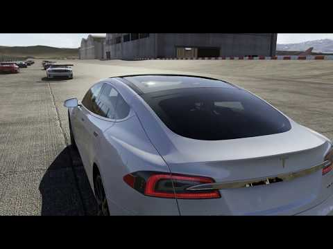 Forza Motorsport 6 Test Track Airfield With Tesla Model S