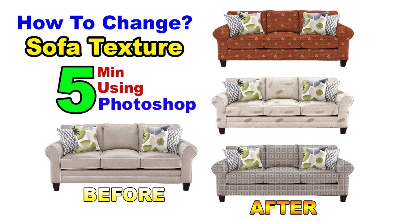 SOFA Cloth Change Using Photoshop