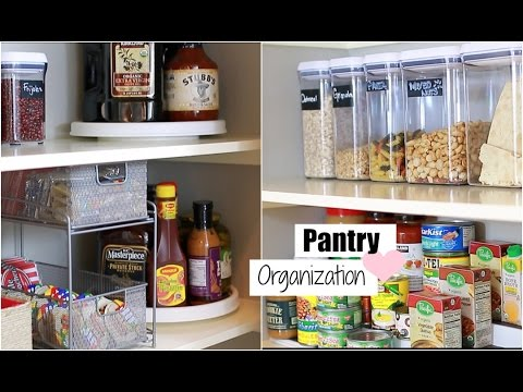 Organize With Me! Pantry Organization -  Tips For An Organized Pantry - MissLizHeart