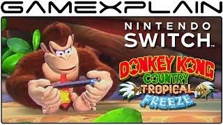 DK Hace que el cambio en la NUEVA Animación de Inactividad para DKC: Tropical Freeze en Nintendo Interruptor!