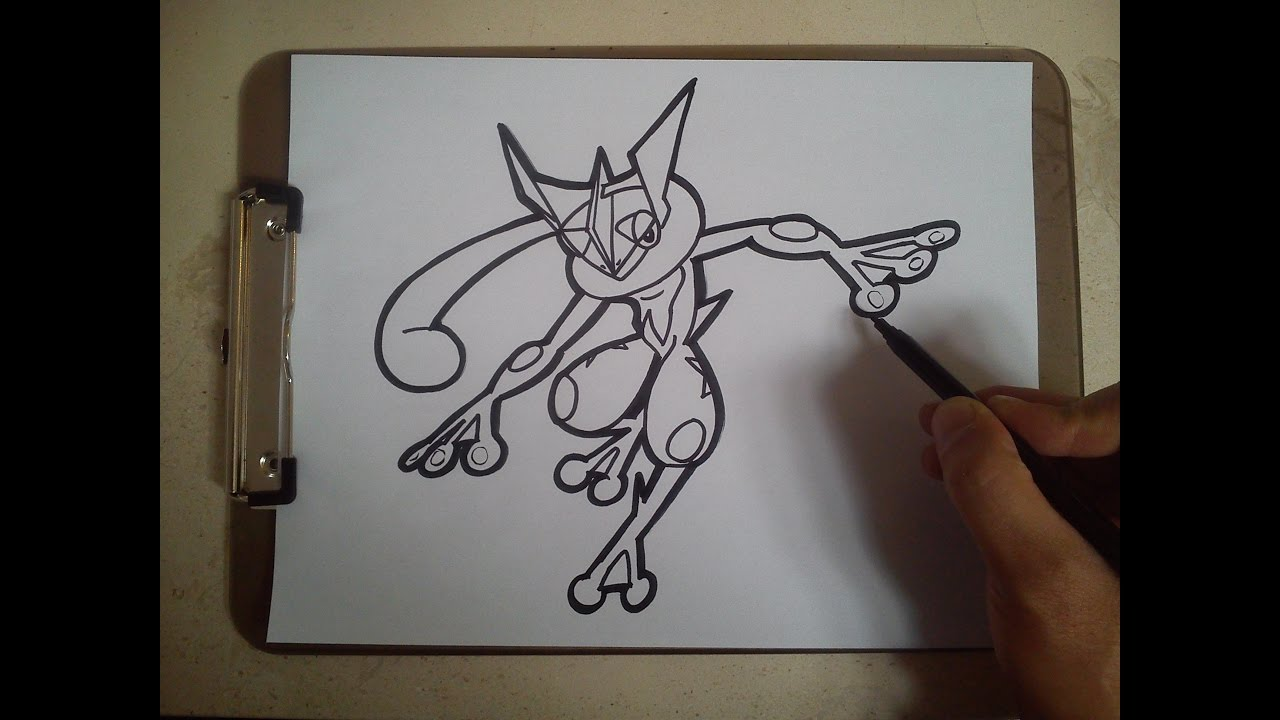 Como Dibujar A Greninja Pokemon How To Draw Greninja Pokemon