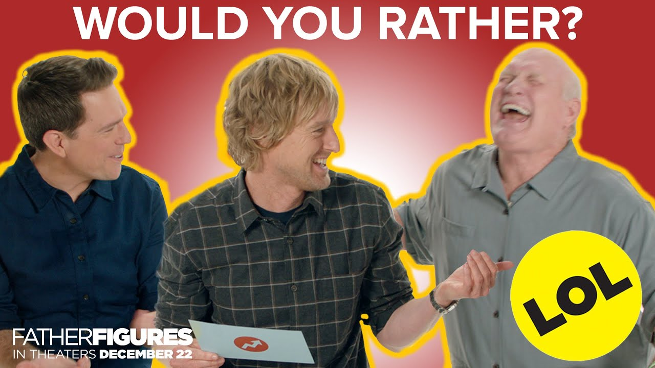 The Cast of Father Figures Plays Would You Rather