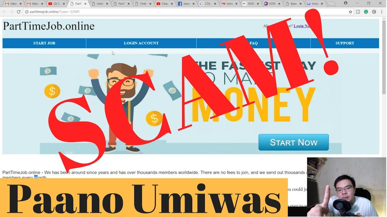 PartTimeJob online SCAM + Guide and Tips pano malaman ang SCAM na sites