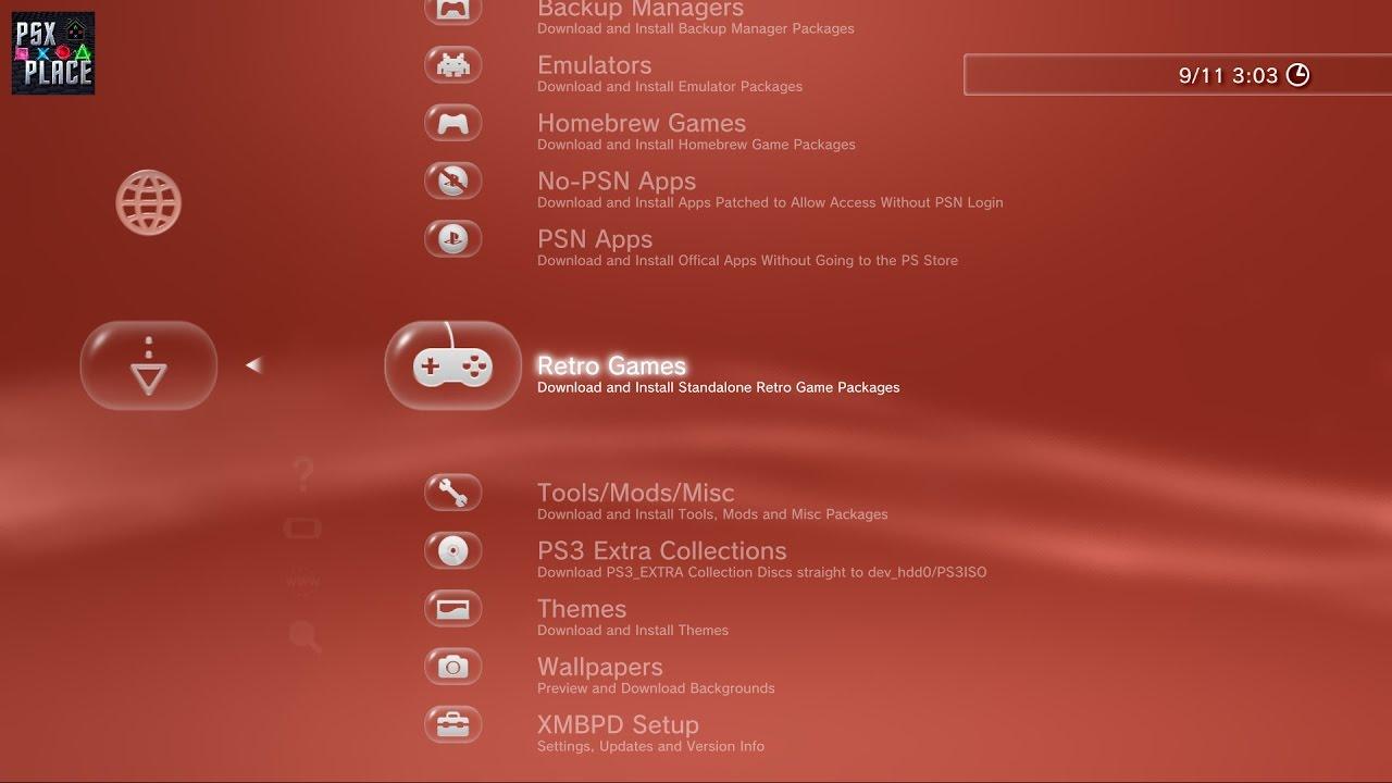 XMB Package Downloader (PS3 XMB Mod)