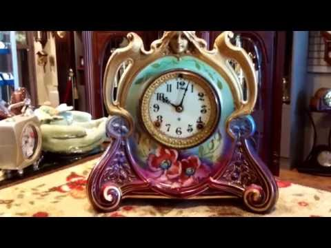 ANTIQUE CLOCK by ANSONIA ROYAL BONN I FINE HOME DECOR