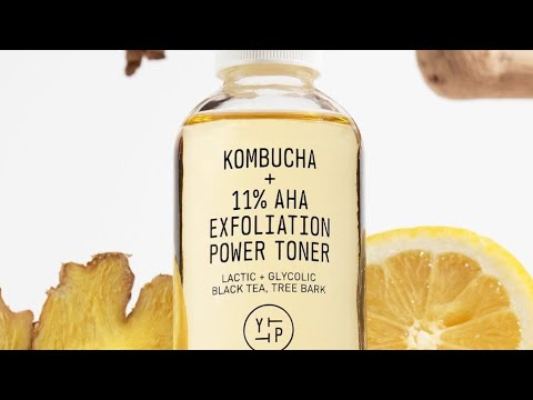 Youth to the People  🆕  Kombucha + 11% AHA Exfoliation Power Toner Review