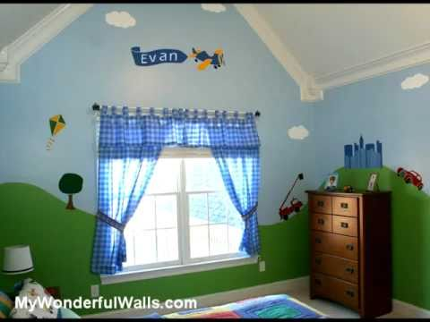Transportation Theme Wall Stencils For Boy S Room Youtube
