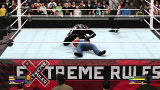 WWE 2K16 Mario vs Azrael for the WWE Ass Kicking Championship