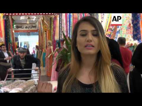 Kurds shop for fabrics in run up to Nowruz new year holiday