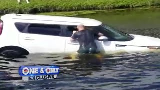 'I remember waking up in water,' says driver of car in canal