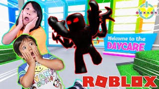 Ryan is a Baby in Roblox! Let's Play Roblox Day Care 2 with Ryan's Mommy