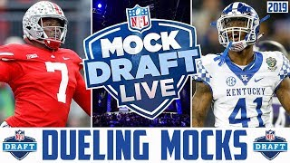 2019 NFL Mock Draft Live (Dueling NFL Mock Drafts) NFL Draft Debate & QnA (Replay)