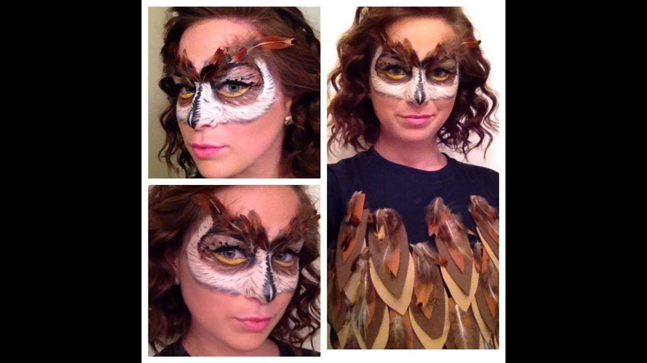 Owl Mask Makeup Tutorial