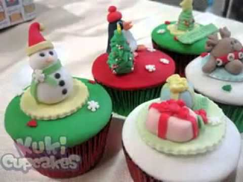 Easy Diy Christmas Cupcakes Decorations Ideas Youtube