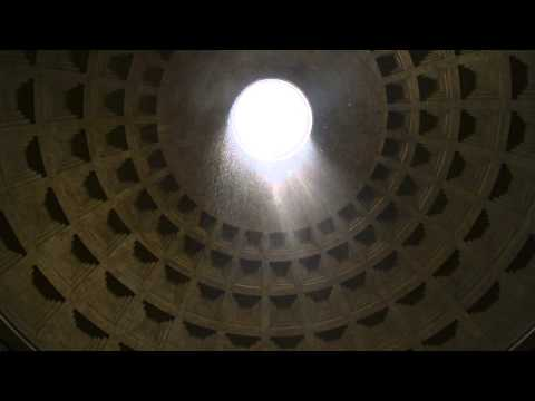 Pantheon in the rain