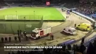 В Воронеже матч прервали из-за драки