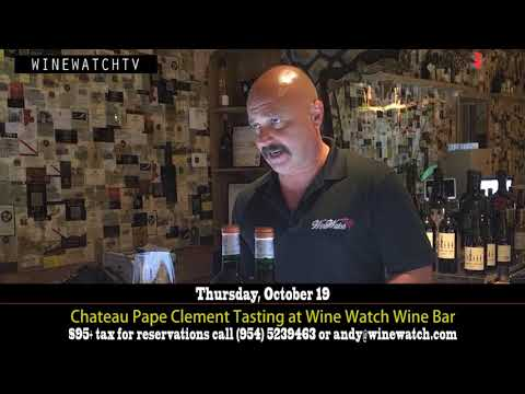 Chateau Pape Clement Tasting at Wine Watch Wine Bar - click image for video