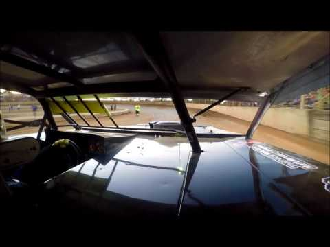 GoPro In-Car Camera with the #42 of Clint Young at Belle-Clair Speedway Heat Win 8-4-17
