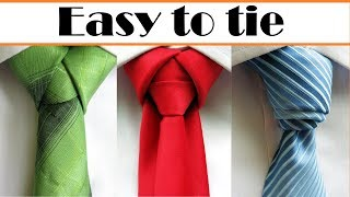 How to tie a necktie | 3 Cool easy Tie knots what will surprise your friends !!