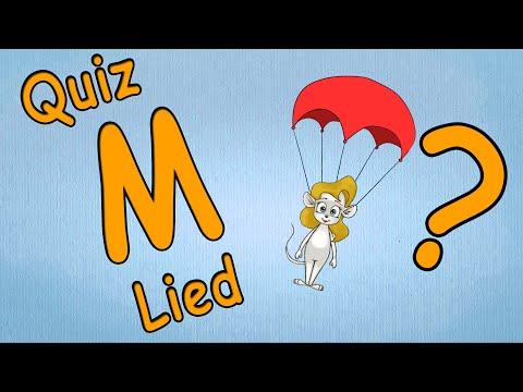ABC Song - Kindermusik-kleinkinder lernen Buchstaben -Buchstabe M Quiz - Fallschirm