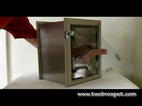 Hale Pet Door Hale Wall Mounted Pet Door Youtube
