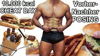 10.000 kcal Cheat Day Challenge | Mit Vorher- Nachher-Posing | In Prag