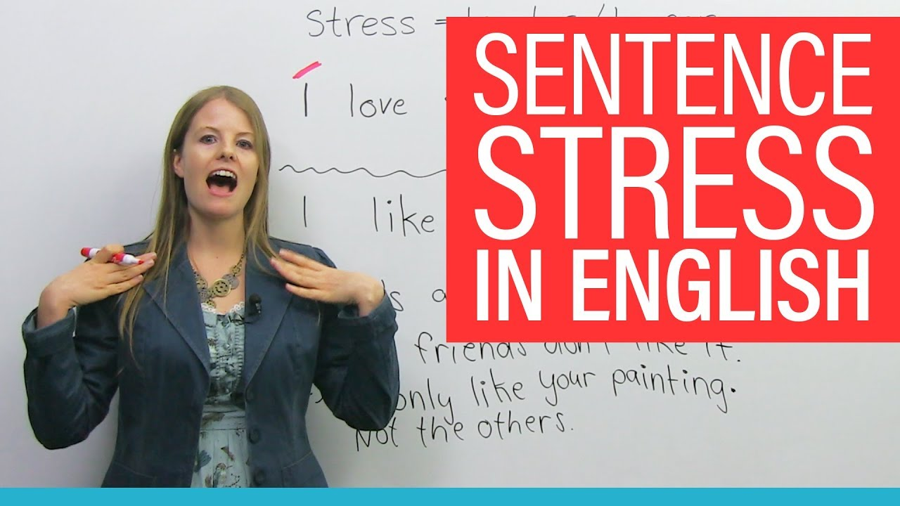 How SENTENCE STRESS changes meaning in English · engVid