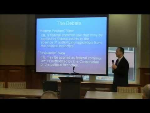 Should U.S. Courts Ignore International Law? 3-22-11
