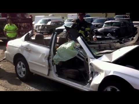Side air bag explosion, WSFD training video
