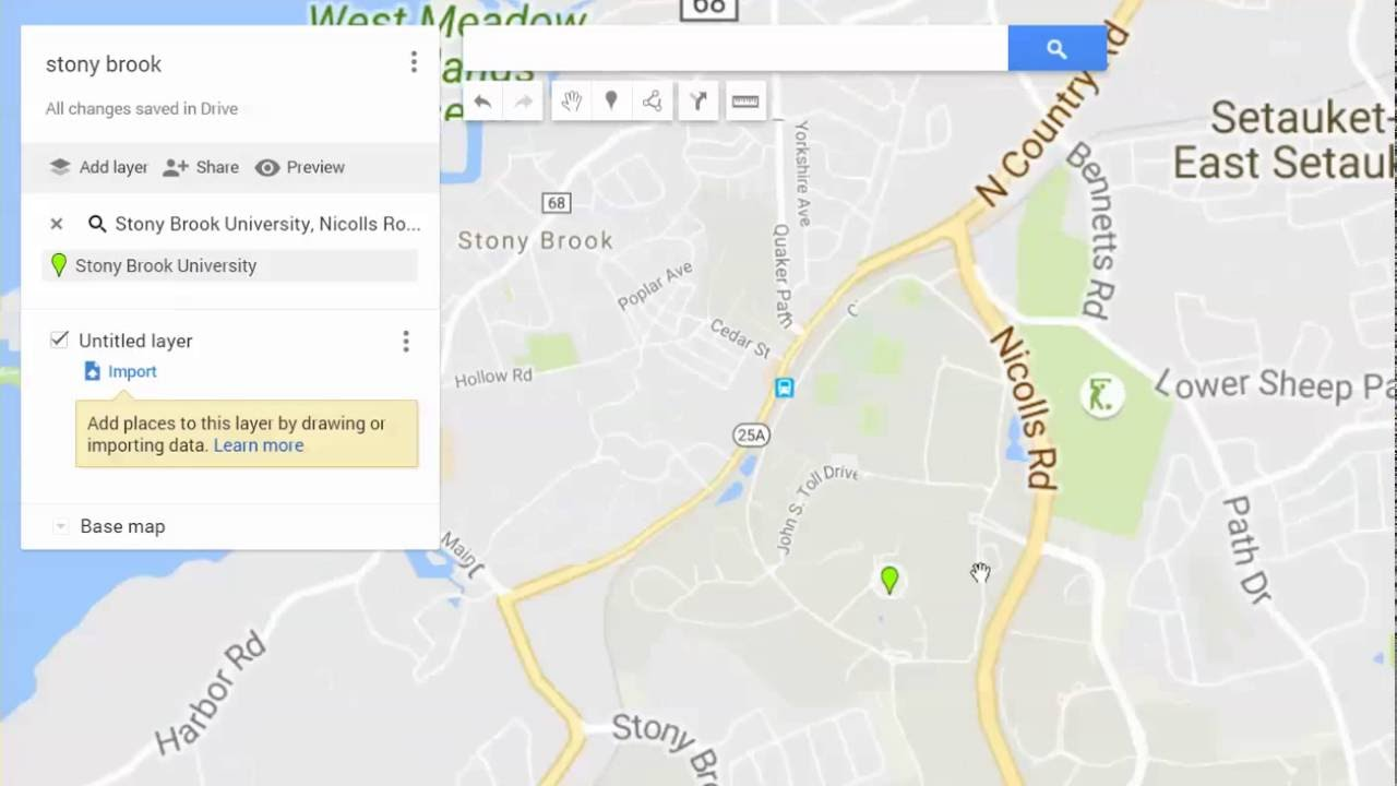 Making A Points Of Interest Map In Google Maps Youtube