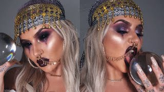 Halloween Fortune Teller Makeup.Halloween Series Fortune Teller Makeup Tutorial Vloggest