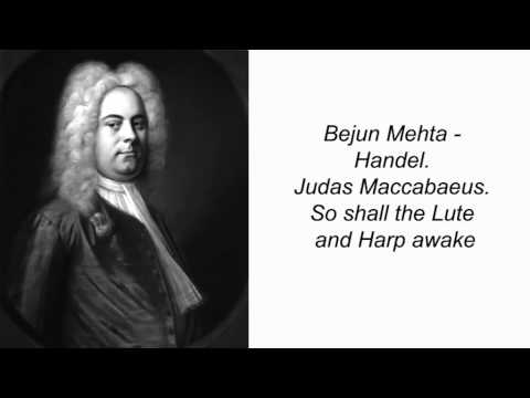 Bejun Mehta - Handel. Judas Maccabaeus. So shall the Lute and Harp awake.