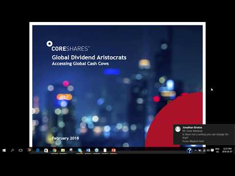 CoreShares Global Dividend Aristocrats ETF webinar