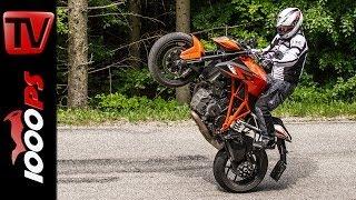 ktm 1290 super duke r test   5 meinungen 1 bike   stunts action sound