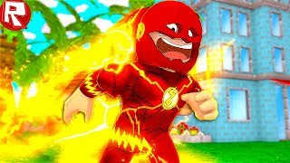 ROBLOKS FLUSH SIMULATOR! HOW I BECAME A SUPERHERO FLASH IN ROBLOX VIDEO FUNNY GAME FOR CHILDREN